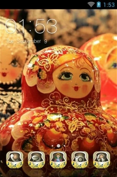 themes for android doll matryoshka doll android theme for clauncher androidlooks com