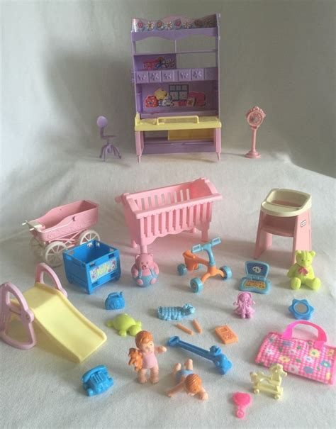 Crib Play Toys by Mattel Nursery Play Set 28pc 2 Babies Toys Crib Highchair Tricycle More Ebay