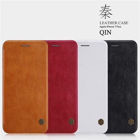 nillkin qin series leather for iphone 7 8 black