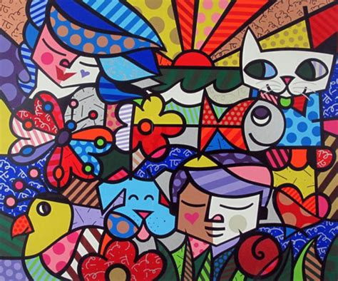 we love rauschenberg pinturas e quadros do romero britto