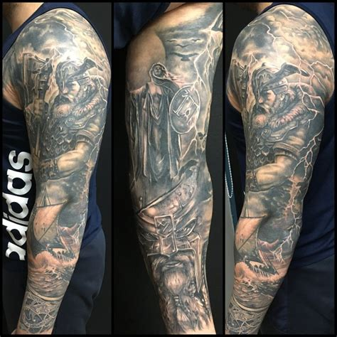 collection of 25 viking sleeve tattoos for men