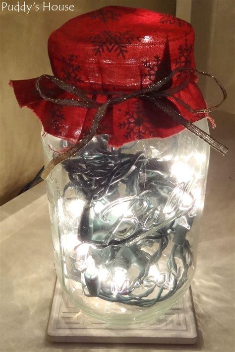mason jar christmas lights diy christmas decorations puddy s house