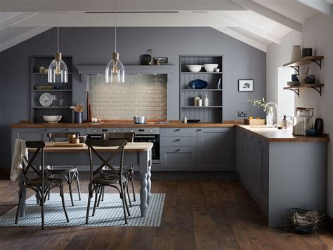grey wood kitchen cabinets the fairford slate grey kitchen range from howdens is part