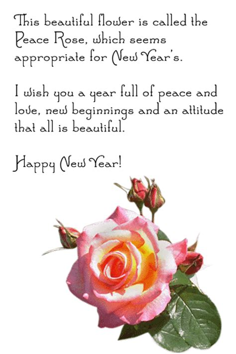 new year wishes with rose flowers new year card new year roses card new year greetings