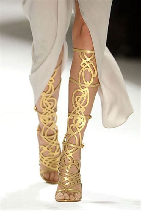 gold gladiator high heels shoes sandales elie tahari gold strappy sandals