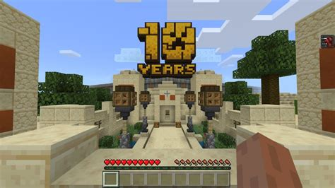 minecrafts anniversary map   huge interactive museum