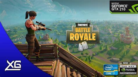 fortnite battle royale graphics nvidia geforce gt