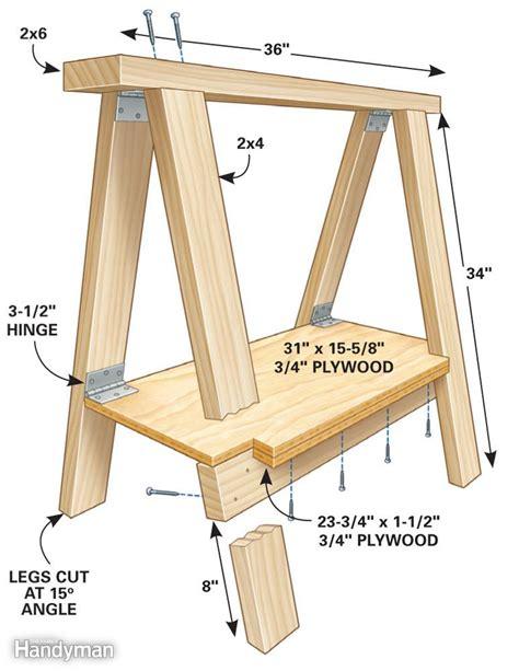Sawbuck Table Sawhorse Plans The Family Handyman