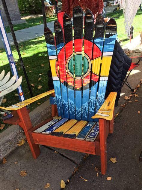 colorado ski chairs co sunset mural adirondack ski chair colorado ski chairs