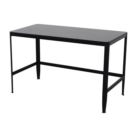 71 off modern black metal table with glass top tables