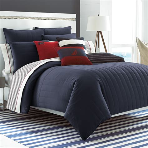 nautica mainsail navy comforter set from beddingstyle com