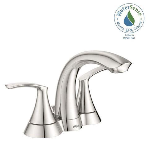 moen darcy bathroom faucet moen darcy 4 in centerset 2 handle bathroom faucet in chrome ws84550 the home depot