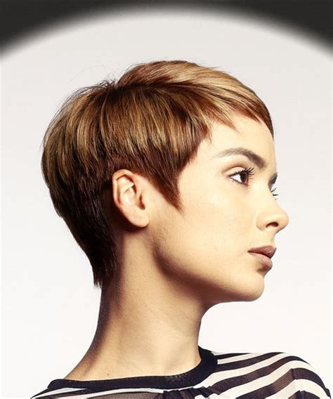 pixie wispy haircut front and back view pixie wispy haircut tapered neckline front and back view