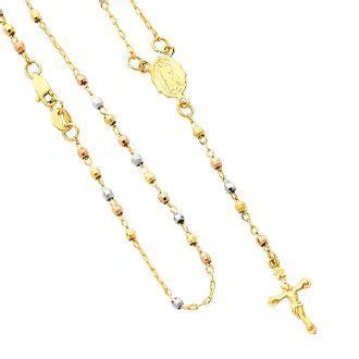 cadenas de oro rosario hermoso rosario con cadena de oro amarillo y cuentas de 3