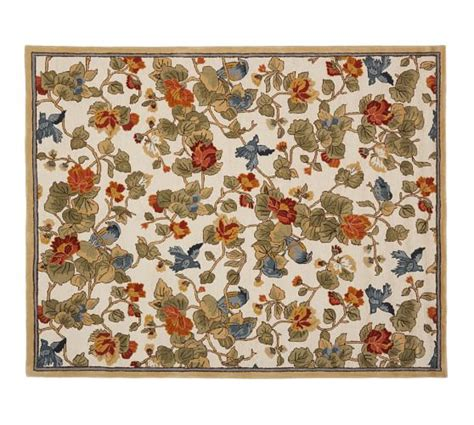 Pottery Barn Rugs by Bird Floral Rug Pottery Barn