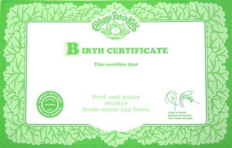 doll birth certificate template cabbage patch kid ballerina pink tutu 1995 ebay