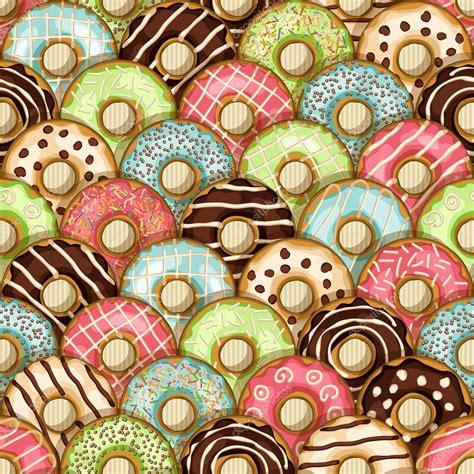 imagenes de rosquillas kawaii patr 243 n sin costuras donas vector de stock 169 natbasil
