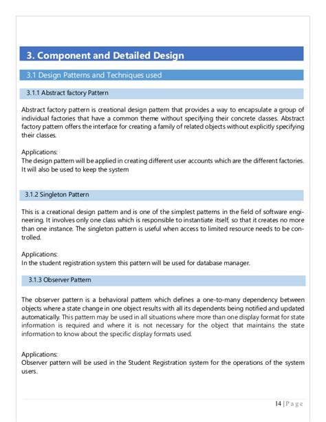 application design document template exle for sds document in software engineering