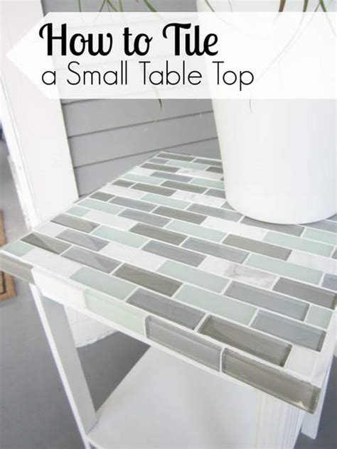 how to a tile table top for outdoors how to tile a small table top