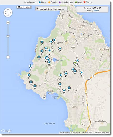 pebble california map pebble real estate search all pebble homes