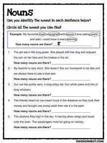 noun study worksheet common core