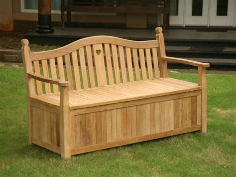 wooden garden storage bench uk heart storage bench
