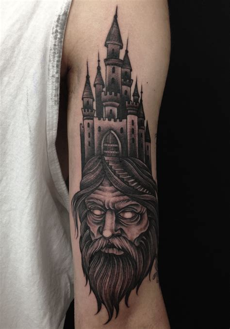 castle tattoos lonsdale sydney bondi wizard beard castle