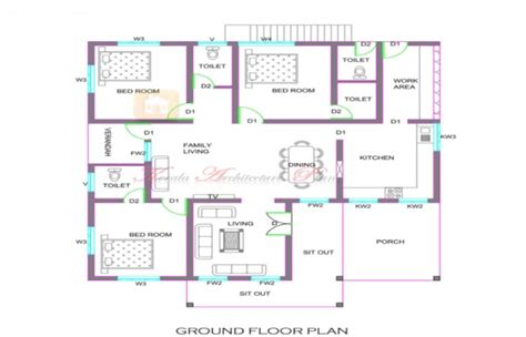 ranch style house plan 4 beds 2 00 baths 1500 sq ft plan 36 372 floor plans for 1300 sq ft house