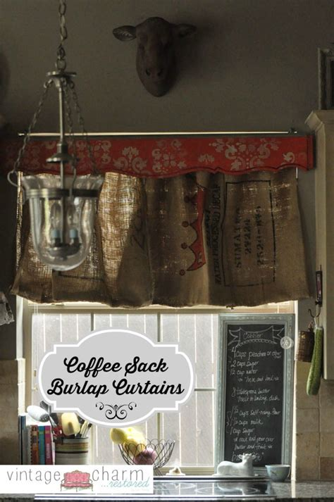 burlap coffee bag curtains burlap coffee sack curtains footboard valance