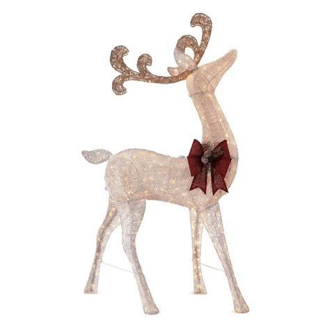 Home Depot Lawn Decorations by Home Accents 91 In Led Lighted Standing Deer