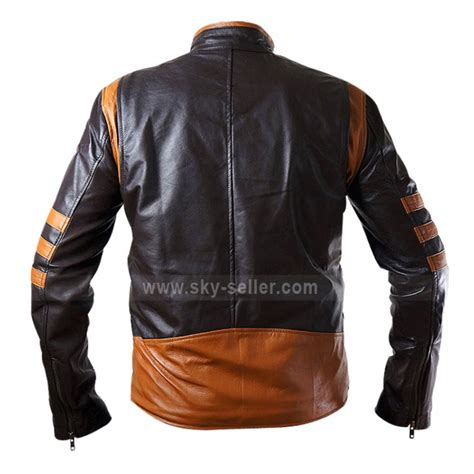Best Seller Jaket Kulit Wolverine Original Wolfrine wolverine origins logan brown biker leather jacket