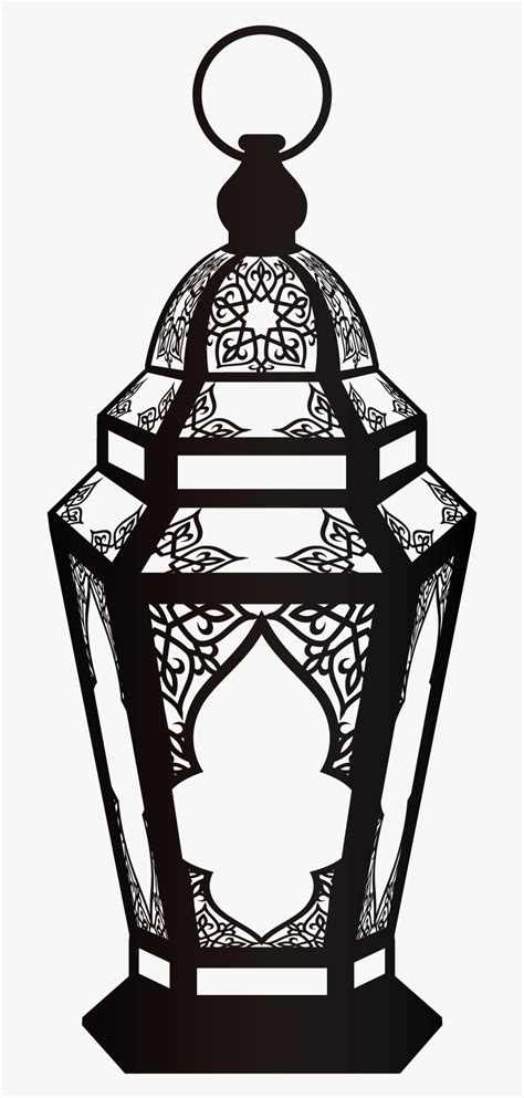 quran muslim ramadan lamp black ornaments fanous clipart