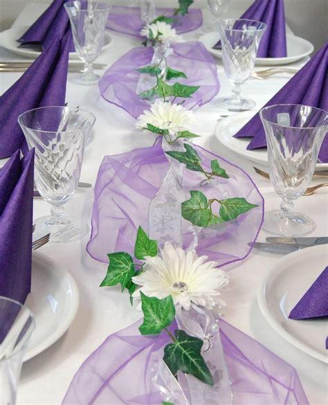 Komplette Tischdeko Hochzeit by Details Zu Komplette Tischdeko In Lila F 252 R Kommunion