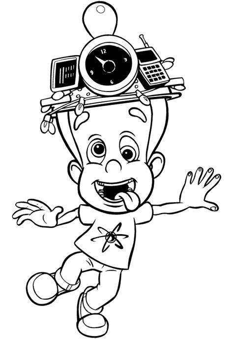 coloring pages fun jimmy neutron coloring pages