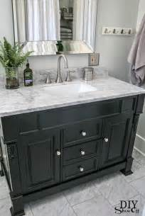 black washstand transitional bathroom valspar pale