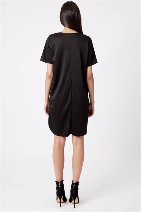 Dress Of The Day Black Ponte Shift Dress At Debenhams by Ida Black Ponte Step Hem Shift Dress Dresses Modamore