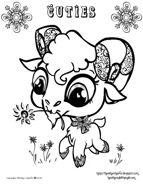 coloring book lost artist loft cuties free animal coloring pages