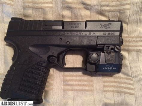 armslist for sale xd s springfield 3 3 quot 45 acp with c5