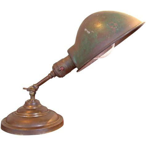 antique brass task l antique vintage industrial adjustable metal and brass desk