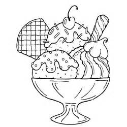 Sundae Bowl Outline Free Printable Ice Cream Coloring Pages For Kids sketch template
