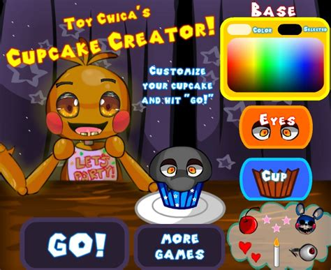 fnaf fan game creator toy chica s cupcake creator at fnaf world game