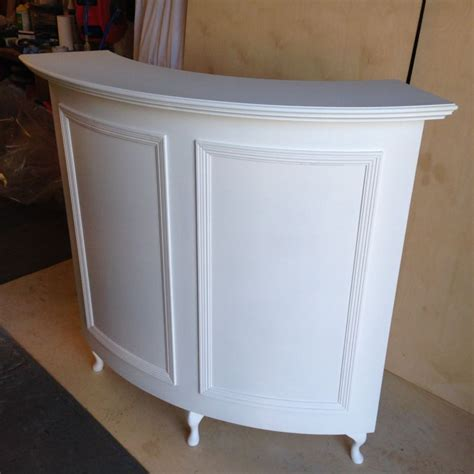 curved salon reception desk style shabby chic