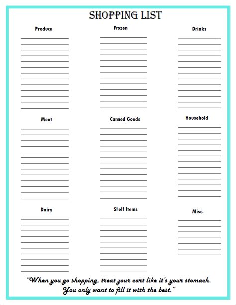 free printable household shopping list free grocery list meal planning printables my own home
