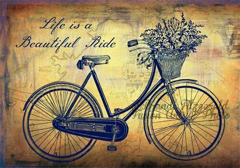 imagenes lindas retro dibujo de una frase con una bicicleta vintage bicicletas