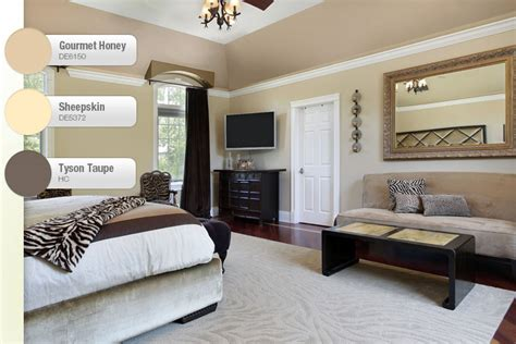 Interior Paint Colors Ideas For Homes Taupe And Beige Bedroom Interiors By Color