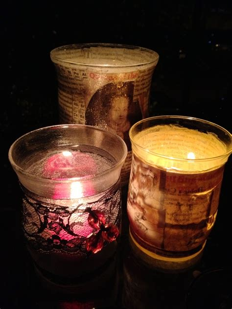 Decoupage Glass Candle Holders - 107 best images about keepsakes and memorials on