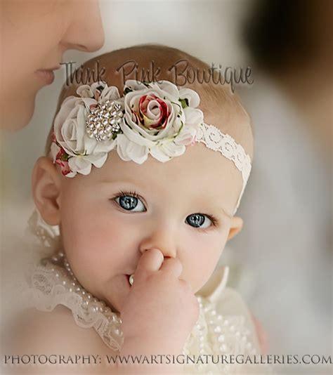 baby headbands baby headband flower headbandbaby by thinkpinkbows on etsy