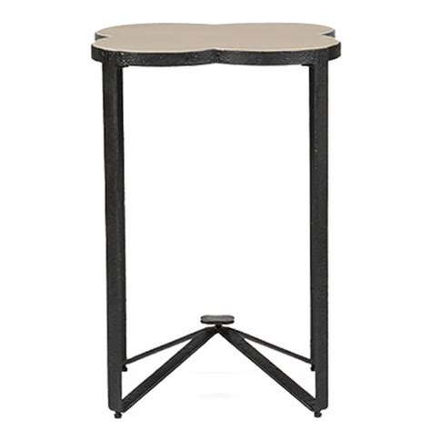 Quatrefoil Side Table Cynthia Modern Classic Quatrefoil Limestone Iron Accent End Table Kathy Kuo Home