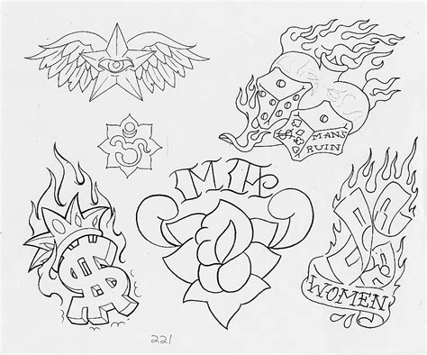tattoo flash outlines all evil tattoo outlines pictures to pin on pinterest