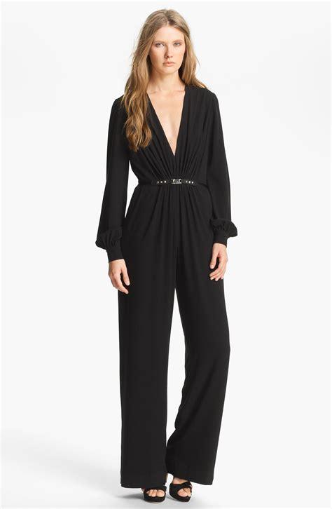 Silk Jumpsuit haute hippie belted silk jumpsuit in black lyst